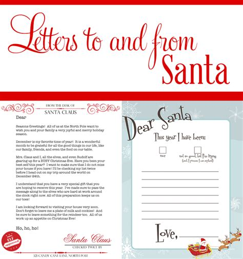 Response Letter From Santa Dear Santa Printables The Sits