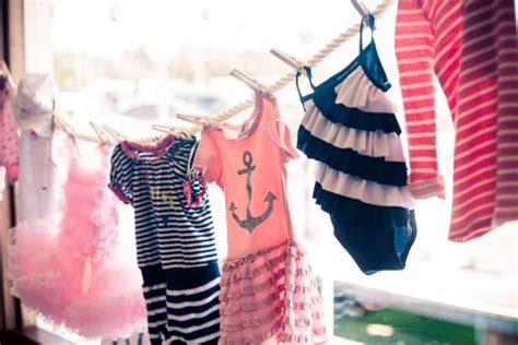beach themed clothing line pink and blue nautical baby shower inspired by this