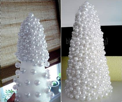 diy christmas tree styrofoam and gems pearls 13