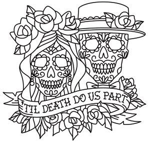 dia de los muertos couple coloring pages day of the dead dia de los muertos sugar skull coloring