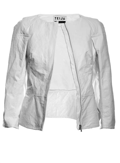 How To Make Paper Jacket - pulveri japanese paper leather jacket in chalk by teija