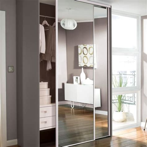 glass mirror wardrobe doors sliding wardrobe doors kits bedroom furniture diy at b q