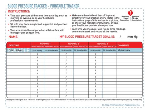 blood pressure cards template inspired by february 2014