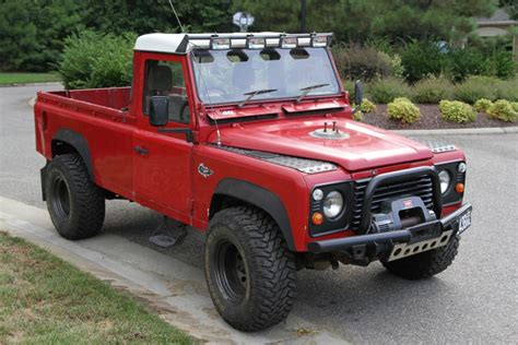 land rover 110 truck 1986 land rover defender 110 v8 for sale on bat