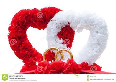 Hearts   Car Wed Decoration, Isolated Stock Photo   Image
