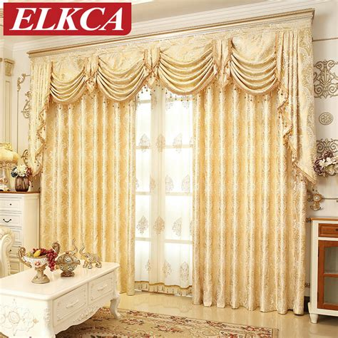 elegant living room curtains european golden royal luxury curtains for bedroom window