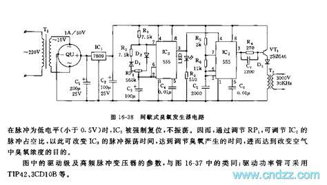 555 intermittent type ozone generator circuit signal