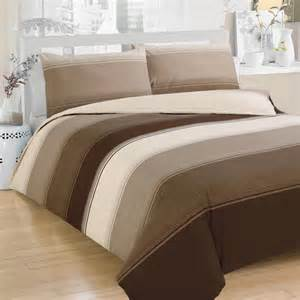 Duvet Cobers Stripe Duvet Cover Set Chocolate Kingsize
