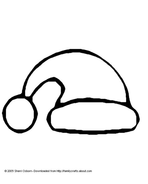 santa hat coloring page and template print out this santa
