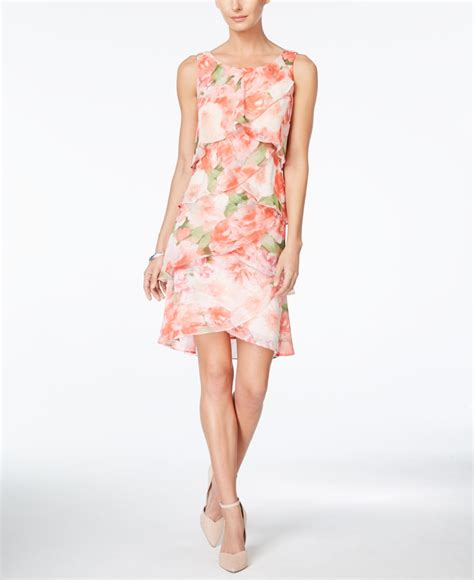 Style Co Dress style co floral print tiered chiffon dress only at