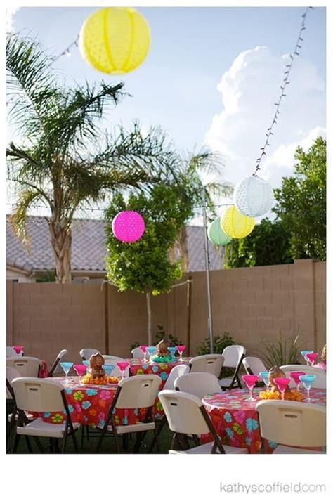 backyard luau ideas real parties toni s twins surf birthday party