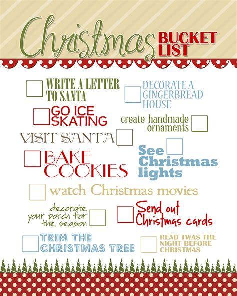 Printable Christmas Bucket List | christmas bucket list free printable how to nest for less