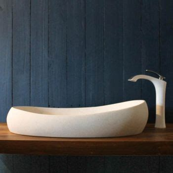 boat shaped basin concrete basins sit on top wall hung and stone
