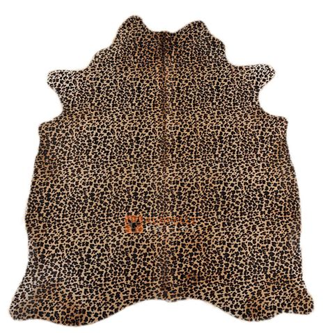 Stelan Leopard kuhfell mit leoparden print 200 x 160 cm kuhfelle