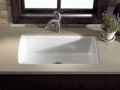 undermount kitchen sink with faucet holes standard plumbing supply product kohler k 5864 5u ft