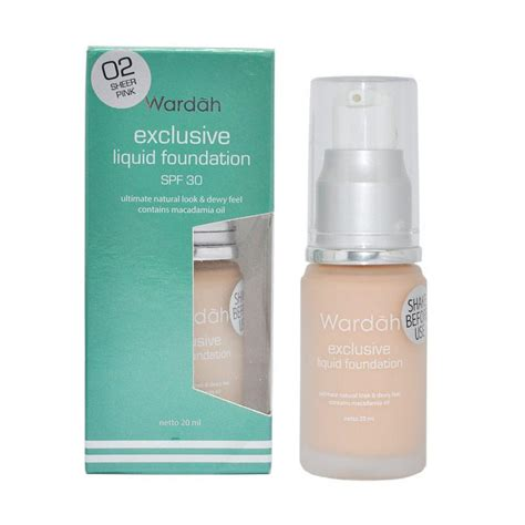Wardah 20ml Jual Wardah Exclusive Liquid Foundation 02 Sheer Pink