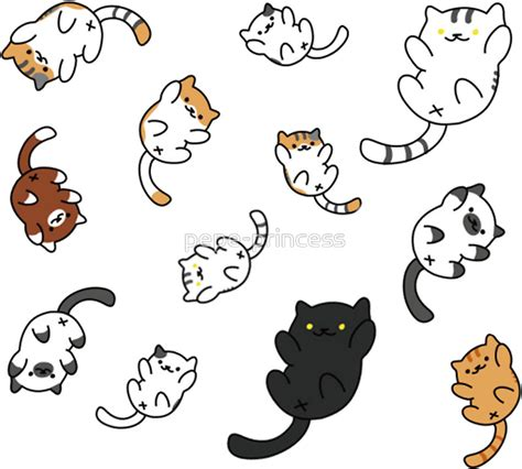quot neko atsume sticker sheet quot stickers by pepe princess