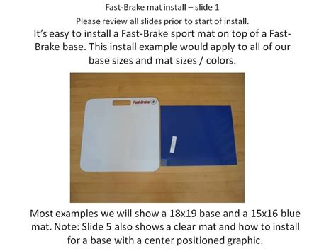 How To Install Mat by How To Attach A Sticky Mat To A Base Fast Brake