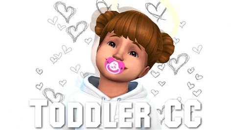 sims 4 toddler cc the sims 4 first toddler cc finds youtube