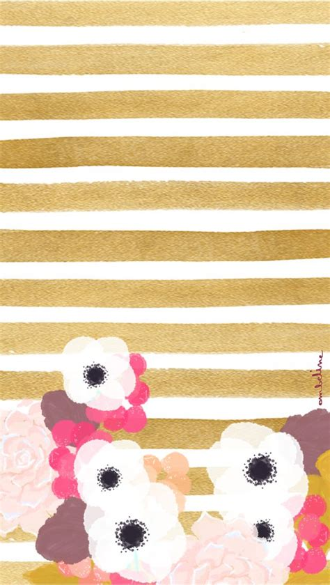 iphone themes gold gold flower fashionista iphone wallpaper home screen