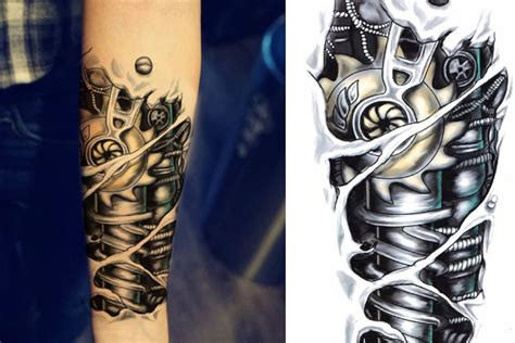 bionic arm tattoo jaxx bionic robot temporary ideas