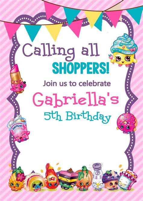 printable shopkins birthday decorations adorable shopkins printable invitations via etsy