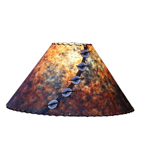 Handmade Light Shade - blue and rust l shade rustic artistry