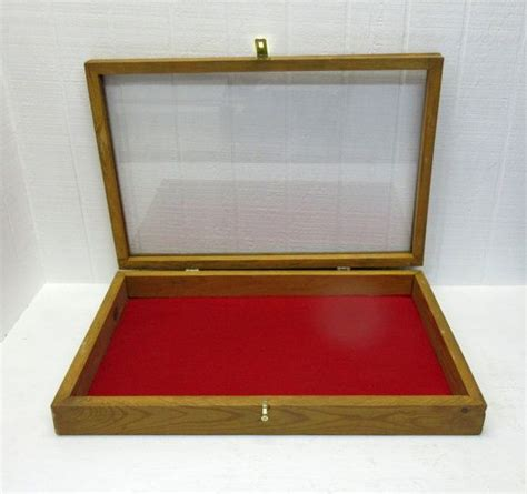 Handmade Shadow Boxes - vintage display shadow box with glass front handmade