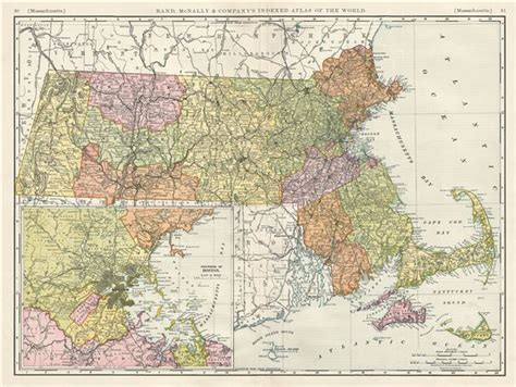 rand map in usa massachusetts geographicus antique maps