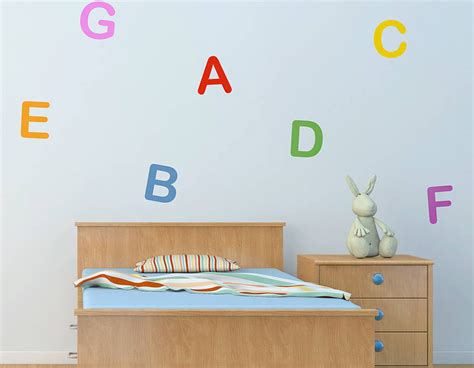 number wall stickers personalised letter and number wall stickers contemporary wall stickers