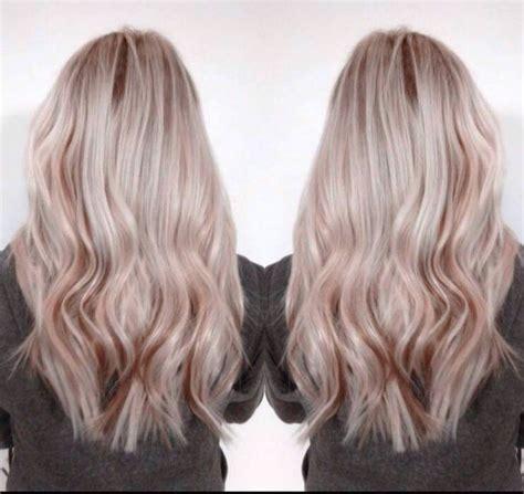 rose gold lowlights on dark hair ash blonde hair with rose gold lowlights hair