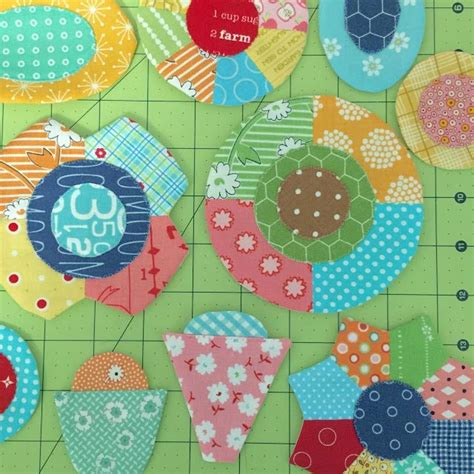 sew simple shapes patchwork flower garden tutorial