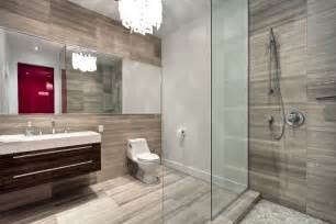 Modern Bath Shower modern shower and bathroom with glass wall transparent