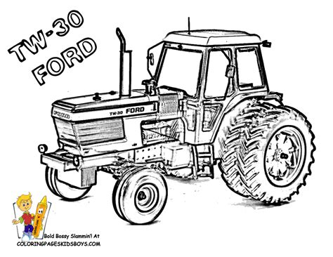 free coloring pages of tractor jcb