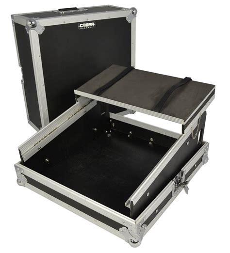 cobra mixer flightcase with laptop shelf mixer cd player