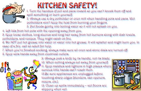 7 Must Kitchen Safety Tips by Level 1 Graphics 1