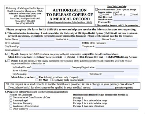attractive sample medical records request form component resume