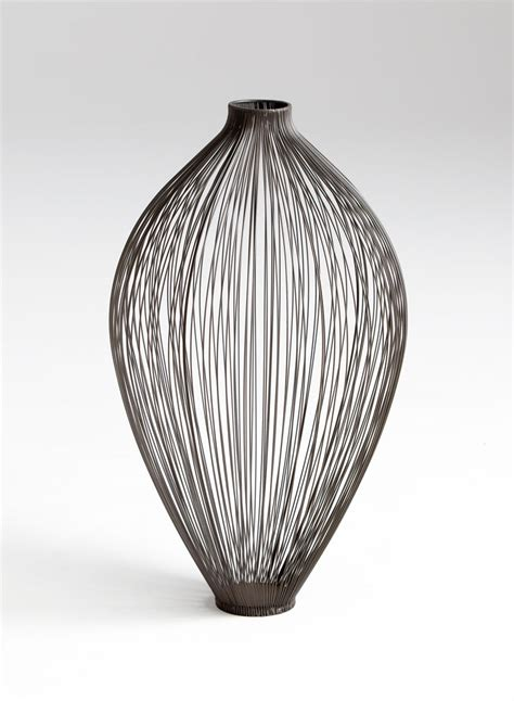 Wire Vase large celestine iron wire vase by cyan design