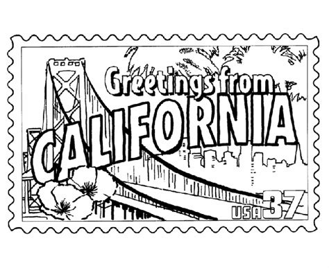 printable state postcards usa printables california state st us states