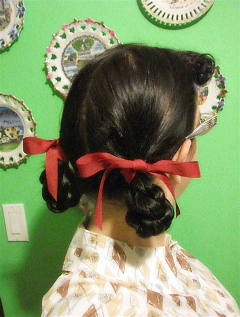 1940s pigtail loop braids   By Gum, By Golly