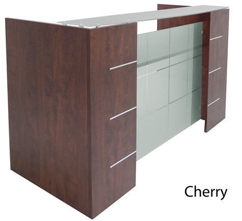 Glass Front Reception Desk In 5 Colors Front Reception Desks