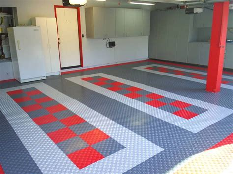 cool garage floors beautiful garage interiors beautiful garage floor tiles