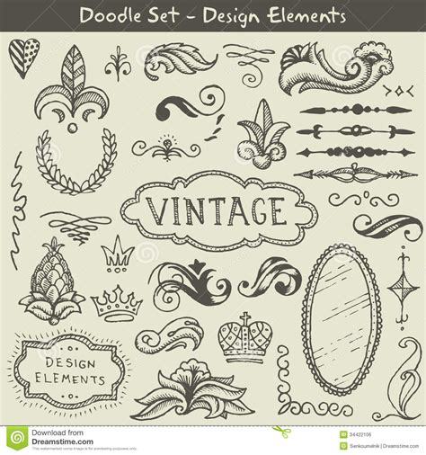 free vector doodle elements set of doodle decorative elements royalty free stock image
