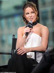 White Draped Top Kate Beckinsale Cleavage Whilst Promoting Underworld