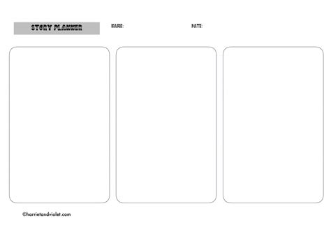 story planner template story planning template free teaching resources
