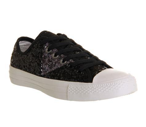 black sequin converse sneakers mens converse ctas ox multi panel black grey sequin