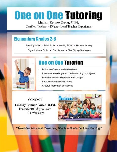 free tutoring flyer template 15 tutoring flyer templates printable psd ai vector