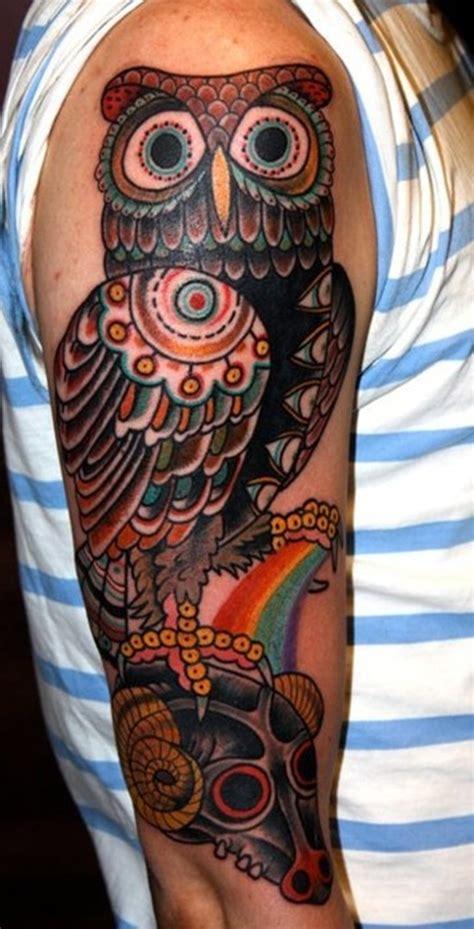 tattoo arm owl 30 awesome traditional owl arm tattoos