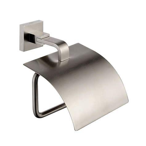 kraus aura bathroom accessories tissue holder  cover brushed nickel  home depot canada