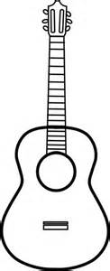 acoustic guitar template acoustic guitar pattern use the printable outline for